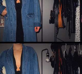 Denim Maurie and Eve jacket / trench / coat