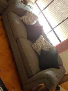 3 seater couch grey colour