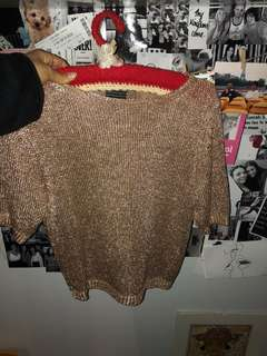 Mesh glitter gold top - perfect for festivals
