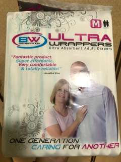 Adult diapers Size M for Night or Day Use