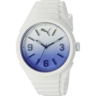 Unisex Puma Gummy Fading White Silicone Watch PU103592009