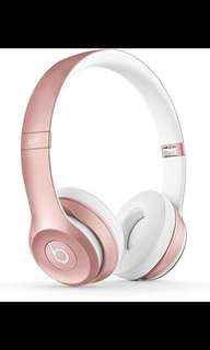 Beats Solo2 Wireless headphones in rose gold