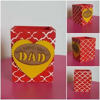 Father's day gift/Gift item/ activity on birthday/goodie bag item/ handmade pen holder/pen holder