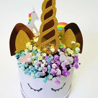 Unicorn or Mermaid Floral Box Gift