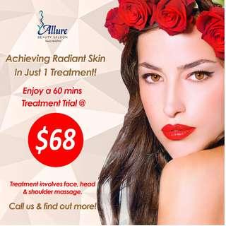 Facial - Choose Rose / Collagen Lifting / Intensive Hydrating / Traditional Guasha