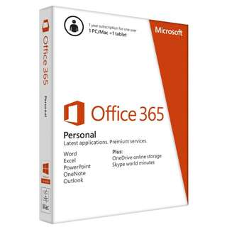 Microsoft Office 365 Personal -1 Year Subscription