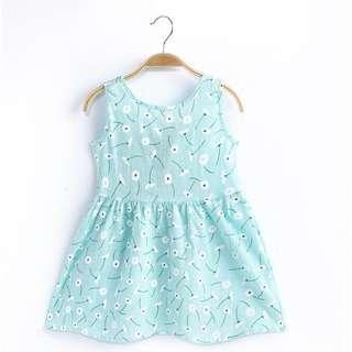 Sweet Blue Sleeveless Princess Dress