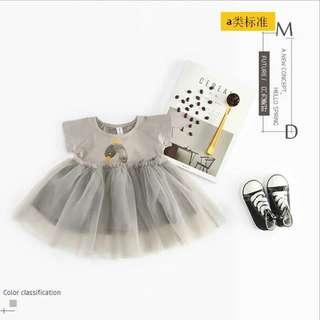🚚 現貨-天鵝連衣紗裙