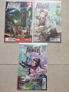 Uncanny Avengers #1-#3 Marvel Comics