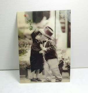 Vintage 3d Lenticular Postcard - Girl & Boy