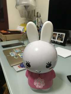 Singing and recording and story bunny