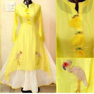Yellow long kurti