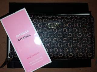 Original GUESS WALLET (with card and price tag) w/ FREE CHANEL CHANCE EDT 20ml