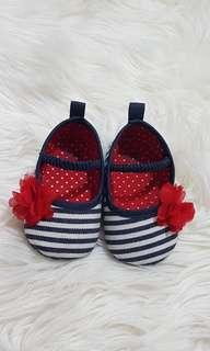 Baby Girl Prewalker Crib Shoes 3-6M
