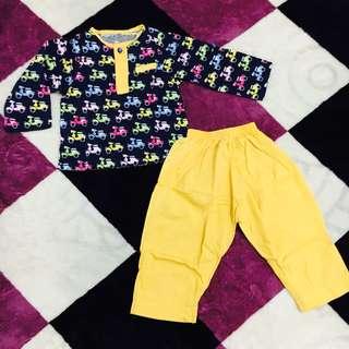 Baju melayu kuning