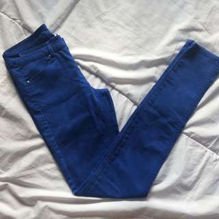 H&m highwaist blue jeans