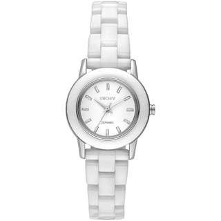 WHITE CERAMIC WHITE DIAL LADIES WATCH NY8295