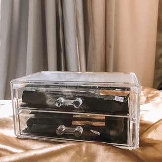 Makeup Acrylic Case (2 Drawer Storage)