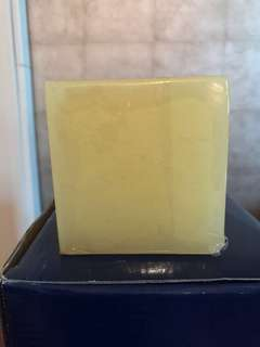Cream colour square candle (no fragrance)