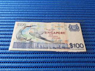 A/1 Singapore Bird Series $100 Note A/1 522202 Dollar Banknote Currency
