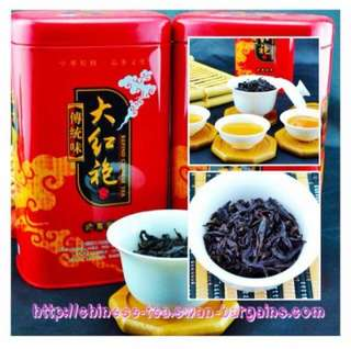 Mt Wuyi Oolong Da Hong Pao Rock Loose Chinese Tea Leaves 125g In Canister Tin