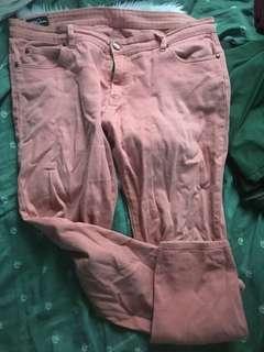 Plus Size Peach Paddock Jeans 40