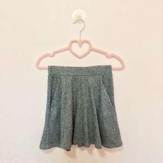 Gray Skater Skirt (Cotton On)