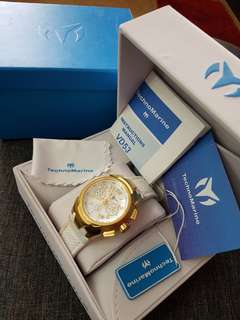 Authentic Technomarine Sea Gold tone chrono watch
