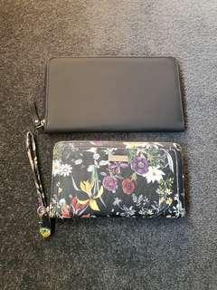 Laura Jones purse + Typo travel wallet
