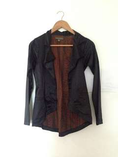 Plains and Prints Black Blazer