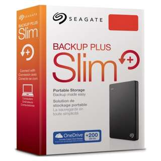 "Brand New Seagate 1TB  Backup Plus Portable Drive 2.5"" Model: STDR1000300 /301/302/303/307/309 - black/silver/blue/red/white /gold"