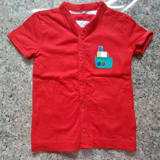 🚚 BN Mothercare Baby Red Top