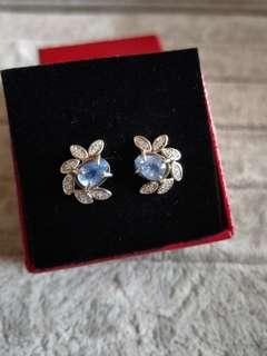 🚚 天然藍寶石耳環