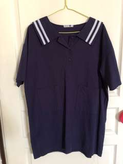 🚚 Navy Blue sailor Dress