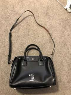 Black Coach Boston bag - snoopy