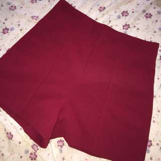 F21 Red Shorts