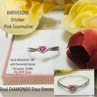 Japan Gold 18k with Real Diamond Stone Proposal Ring Wedding Ring