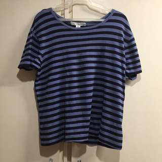 Josephine Chaus Navy Blue Stripes