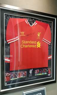 Authentic Steven Gerrard Signed Jersey