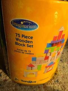 Wooden Blocks Set - Excellent Condition