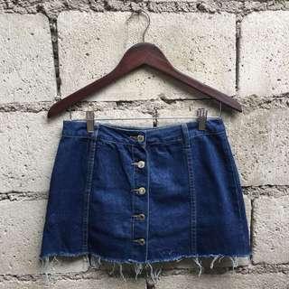 REPRICED! Button Down Denim Skirt