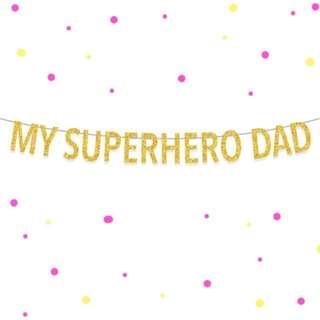My Superhero Dad Banner, Fathers Day Banner, Custom Birthday Banner