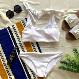 Clyde two piece bikini in white