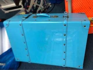 Blue vintage luggage