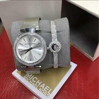 ❤MK Silver w/bangle❤