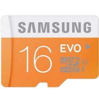 samsung 16gb EVO UHS 1 sd sdhc sdxc xc card class ultra fast micro sd 卡咭