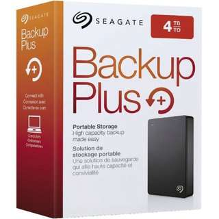 """Brand New Seagate 4TB Backup Plus Portable Drive 2.5"""" Model: STDR4000300/301/302/303/405 Colors: Black/Silver/Blue/Red/Gold"""