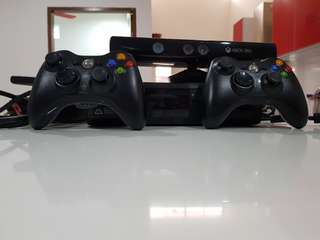 Xbox 360 With Kinect Free download Games and two controllers (500GB)