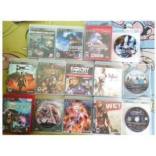 PS3 games (b/n & pre-owned)