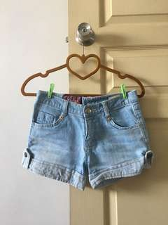 SUPER THICK GOOD QUALITY LIGHT BLUE DENIM SHORTS